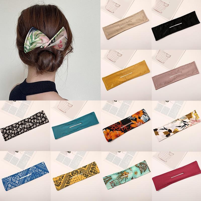 aliexpress.com - New Design Magic Women Hair Bands DIY Bun Maker Headbands Suede Floral Print Knotted Wire Hairbands Twist Maker Hair Accessories