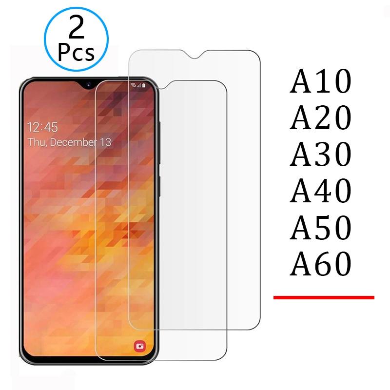 2 uds de vidrio templado para samsung a10 a20 a30 a40 a50 a70 protector de pantalla de cristal de seguridad Tremp en galaxy a 10 20 30 40 50