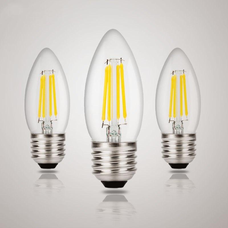 Bombilla LED E27 E14, 2W, 4W, 6W, 8W, 220V, lámpara Retro, globo...