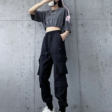 Official Figure Autumn New Ankle Banded Working Pants Women's Loose BF