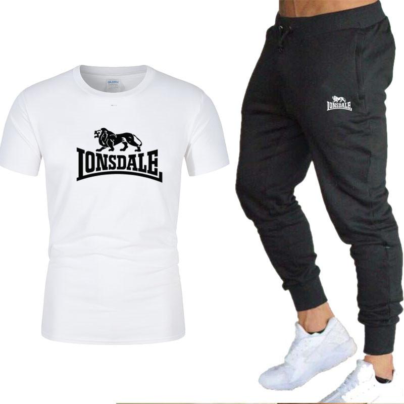 2020, conjuntos de camisetas y pantalones para hombres, conjuntos de dos piezas, chándal Casual para hombres/mujeres, nuevos trajes con estampado de moda, pantalones deportivos, pantalones deportivos
