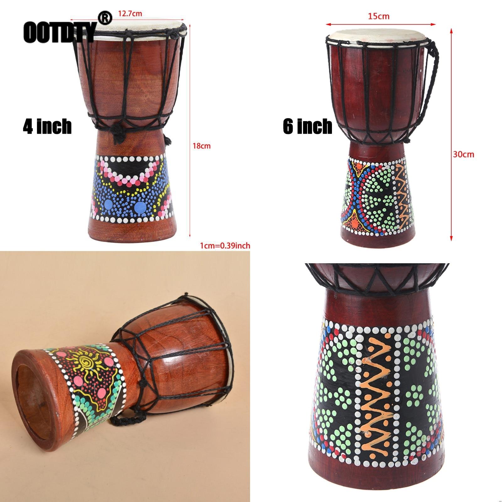 18cm/30cm Professional African Djembe Drum Bongo Wooden Good Sound Musical Instrument