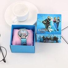 Montre congelée avec boîte enfants créatifs montres en boîte école primaire dessin animé montre à Quartz beau jouet cadeau danniversaire prix étudiant
