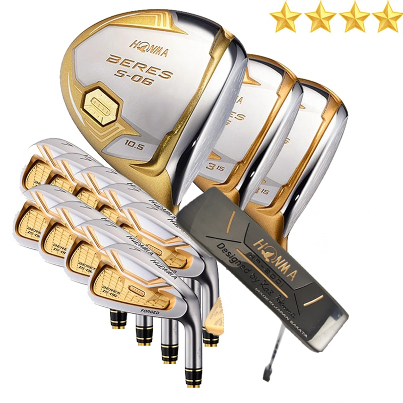 Golf iron set  Men Golf Clubs HONMA S-06 4 star Complete Set Clubs Golf driver.wood.irons.Golf Graphite or Steel shaft No bag