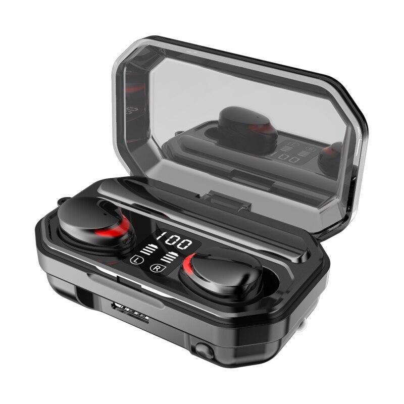سماعة رأس لاسلكية M15 مزودة بتقنية البلوتوث وشاشة LED وبنك طاقة للهاتف الخلوي وسماعة ألعاب استريو بكلتا الأذنين لهواوي وشاومي