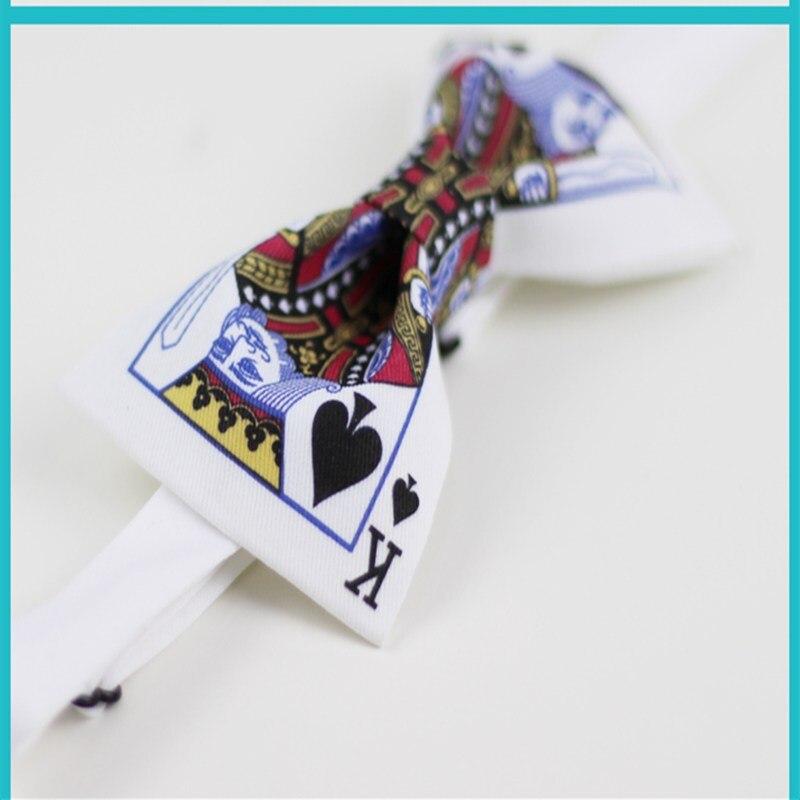 Fashion men bow tie with gift box  brand gentlemen bow tie  bridegroom bow tie  poker spade K bow tie  quality men necktie
