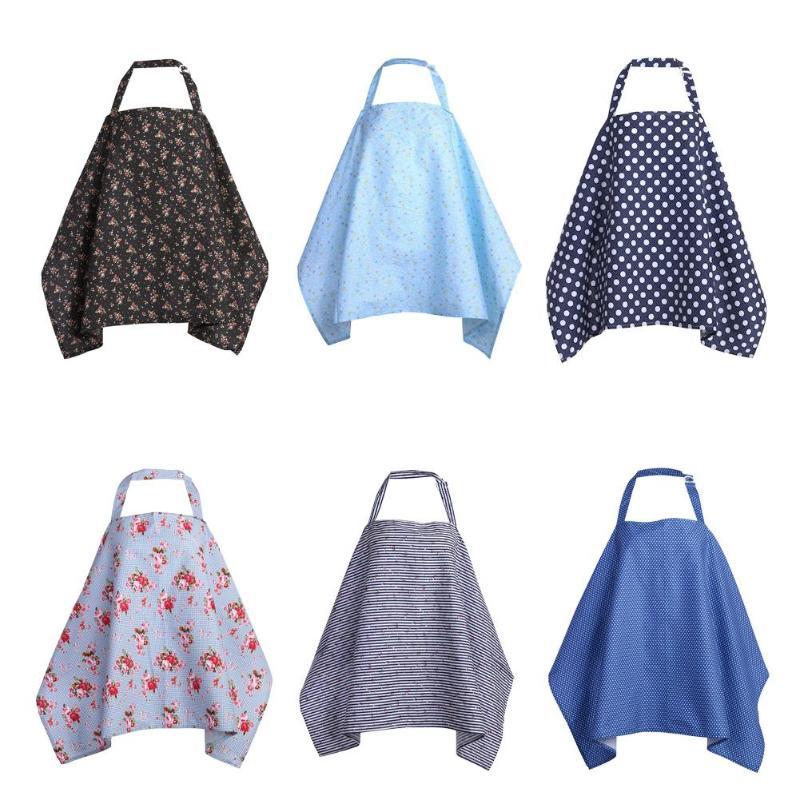 Baby  Mum Breastfeeding Nursing Poncho Cover Up Cotton Blanket Shawl