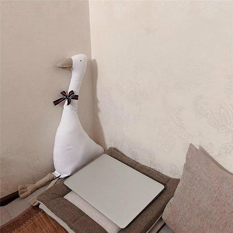 Новинка Huaggble большая плюшевая белая утка игрушка утка небо длинная шея гусиная Реалистичная кукла-животное игрушки для детей подарок на де...