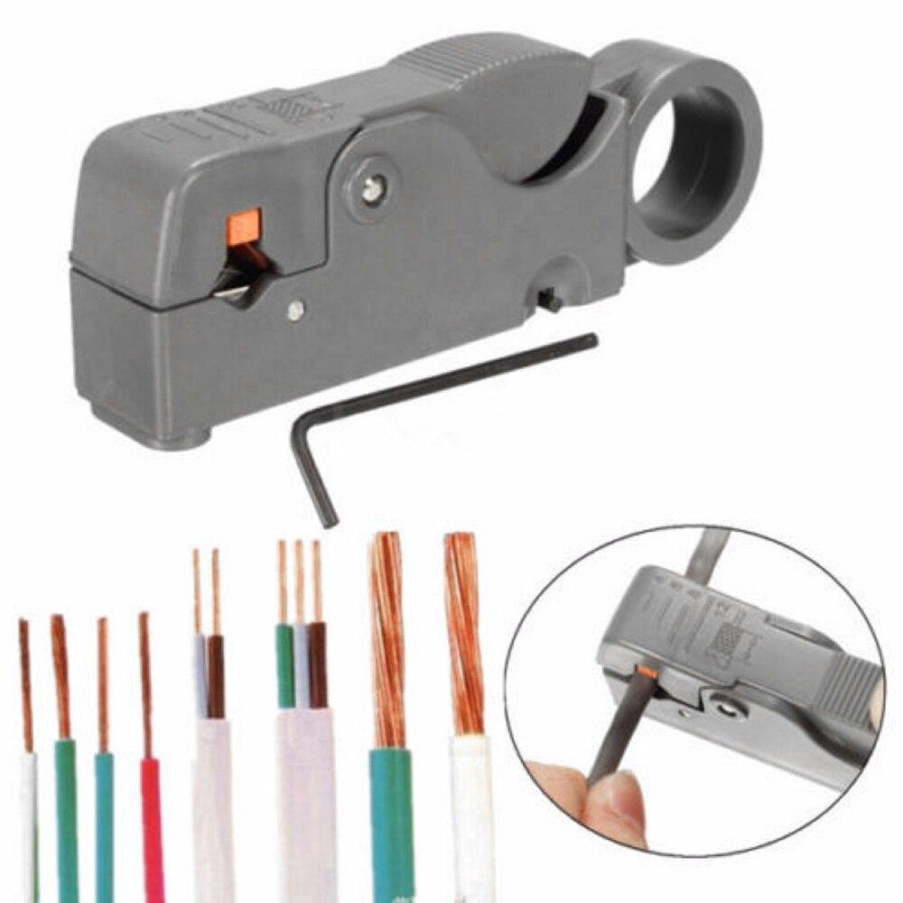 Alicate de decapagem automático rotativo cabo de fio de rede coaxial stripper faca de descascamento de fio alicate de friso rg59 rg6 rg7 rg11