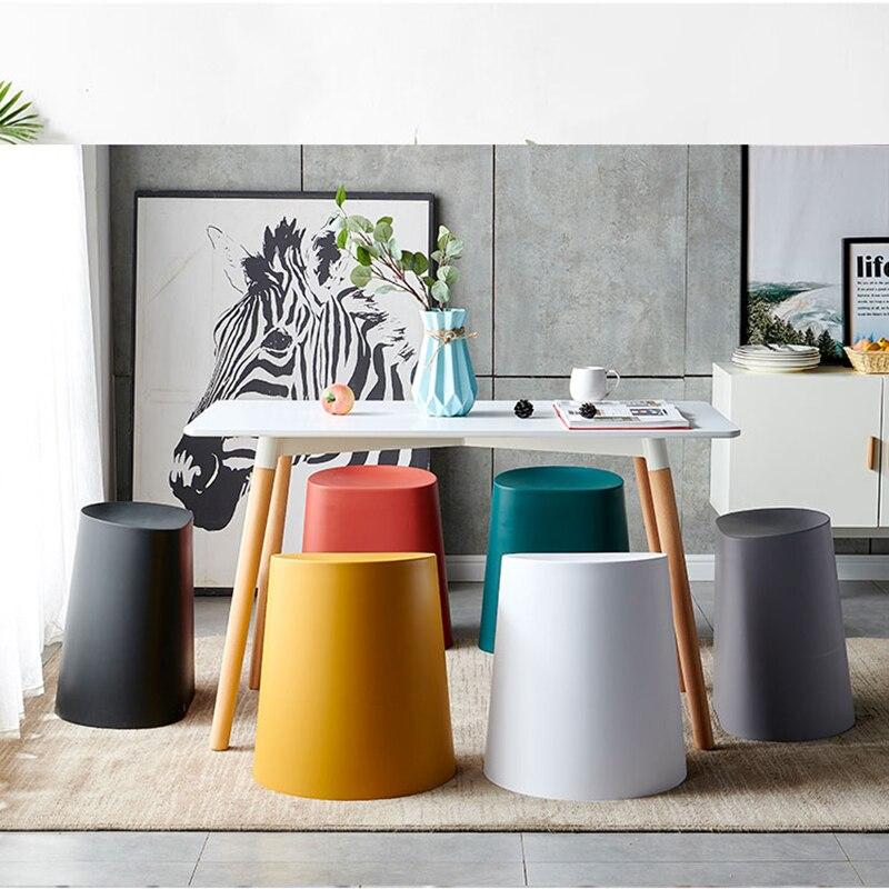 Детские стулья в скандинавском стиле, маленький стул, семейная гостиная, многофункциональное хранилище, толстая пластиковая скамейка, стол...