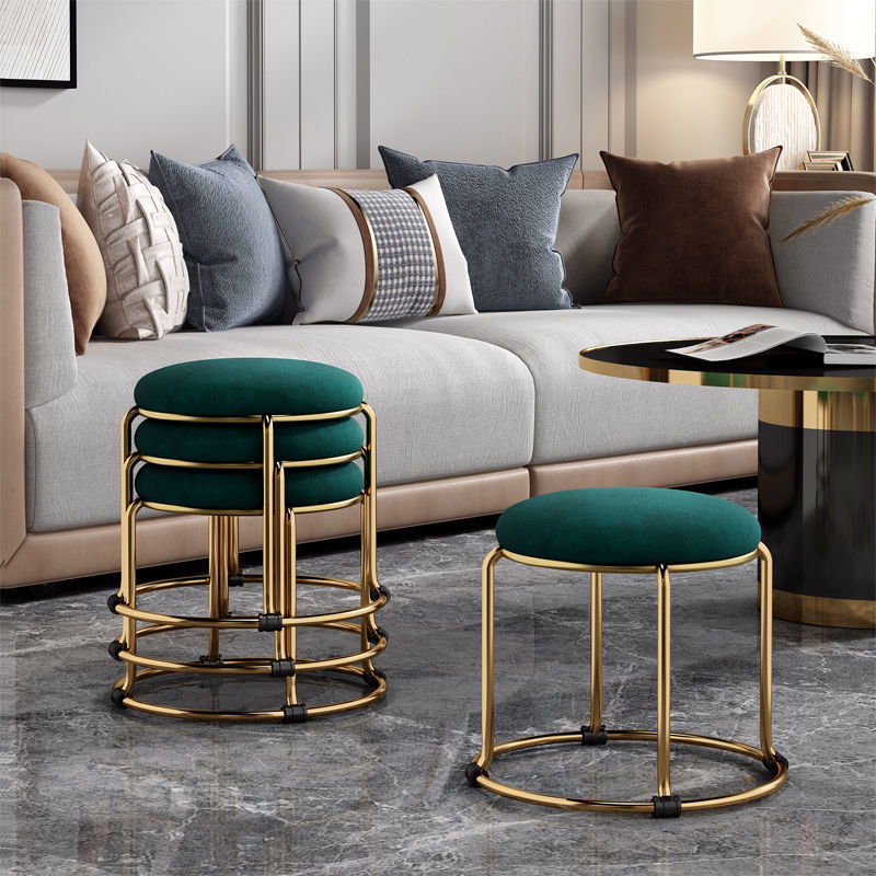 30x33 см оттоманка модный низкий стул роскошный современный простой круглый стул Макияж Туалетная обувь сменный скамейка стул Маленький Стул