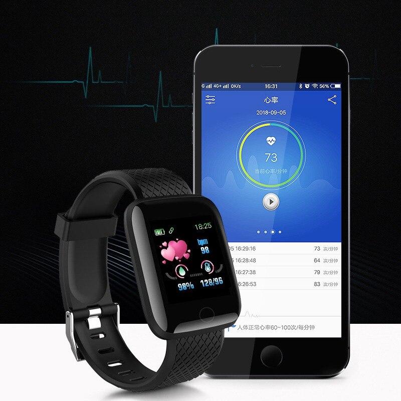 116plus Smart Watch Heart Rate Blood Pressure Monitor IP67 Waterproof Pedometer Sleep Monitor Wristband Sport Mode Smartband