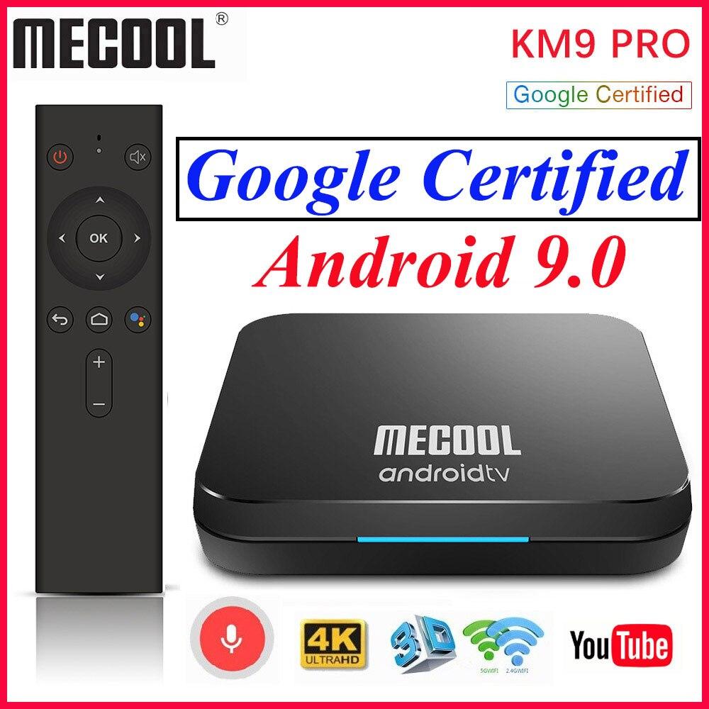 MECOOL KM9 Pro Dispositivo de tv inteligente 2GB 16GB Google certificado Androidtv Android 9 9,0 TV Box 4K KM3 ATV 4GB 128GB Dual Wifi reproductor de medios