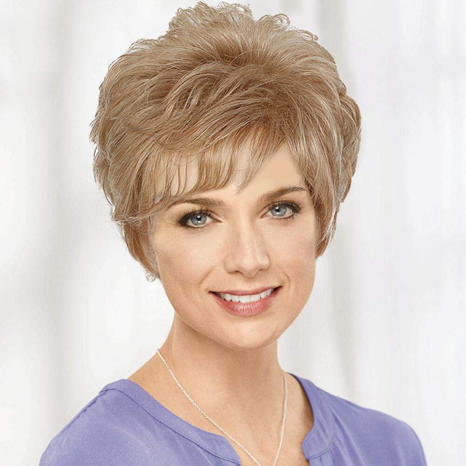 Synthetic Wigs for Women 2 Colour Short Curly Hair Natural Brown Wigs Daily Use High Temperature Fiber Wigs