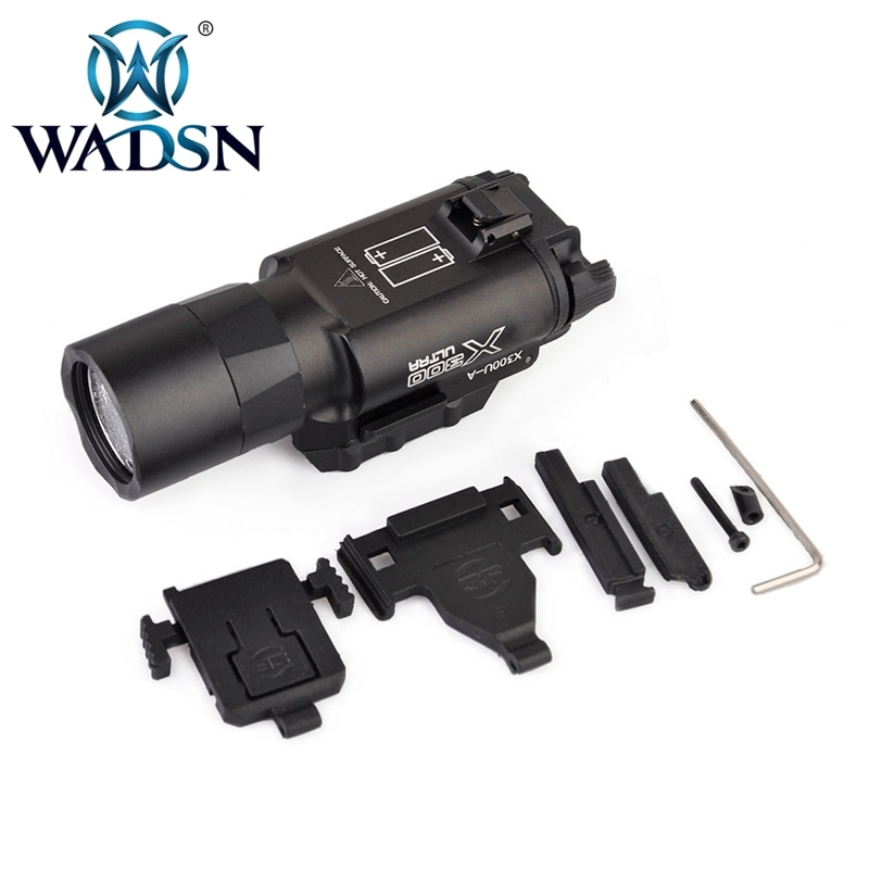 WADSN táctico X300 impermeable arma luz pistola linterna x300 Rifle Picatinny Weaver montaje para caza WEX359 linterna