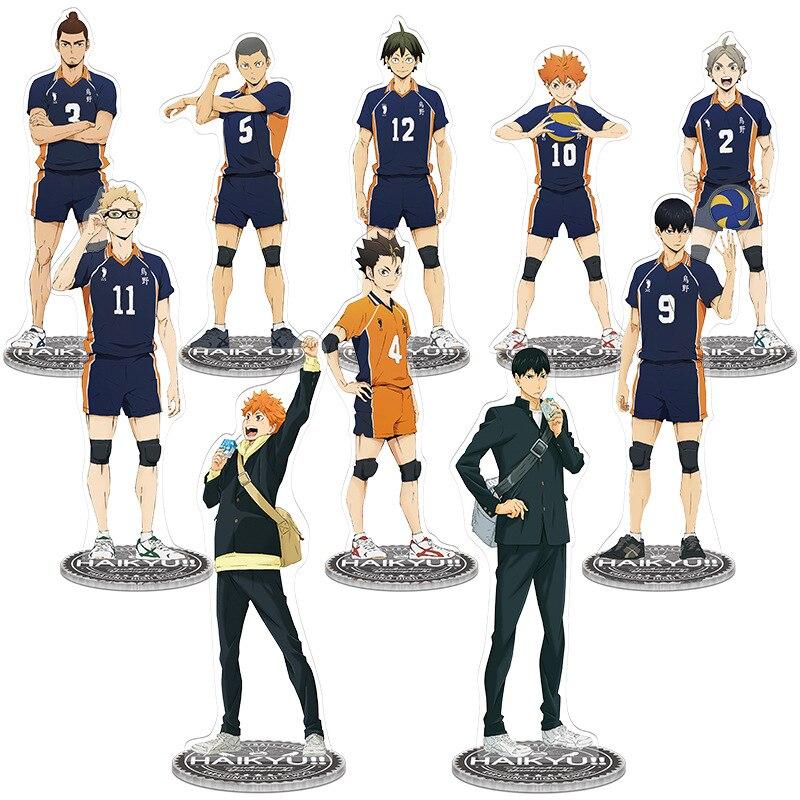 21cm Haikyuu Hinata kageyama Tsukishima Sugawara familia figura acrílica con soporte modelo titular de placa de topper anime karasuno