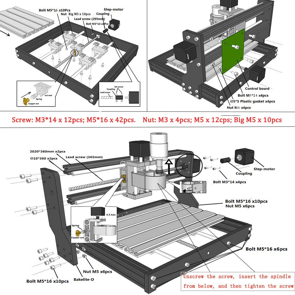 3018 Pro ER11 DIY мини ЧПУ гравировальный станок печатная плата фрезерный станок деревообрабатывающий станок лазерная гравировка металлическое синее покрытие PBC сверла