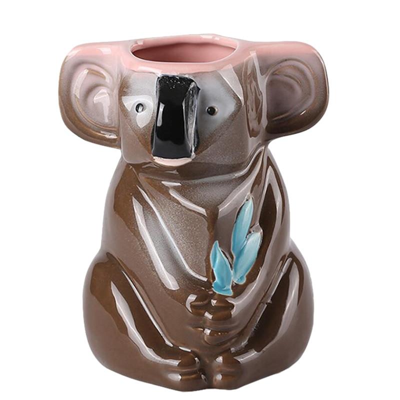 Koala shape creative personality ceramic TIKI cup Hawaiian cocktail cup mug ceramic coffee cup