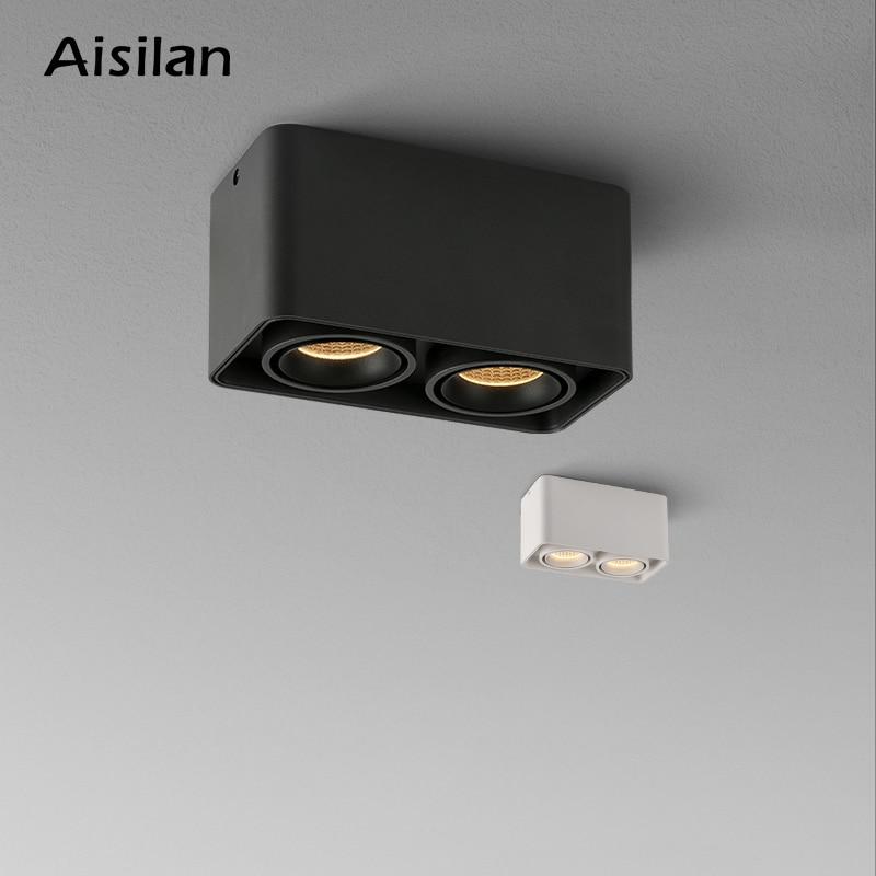 Aisilan الراقية أضواء السقف أسفل ضوء مكافحة وهج وميض خالية الحديثة بقعة ضوء سطح ضوء غرفة نوم غرفة المعيشة أضواء