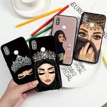 Funda negra islámica para Xiaomi Mi A3, 9, 8, CC9, CC9e, Note 10, 9T Pro Lite, SE, Explorer y Play A1 para mujer