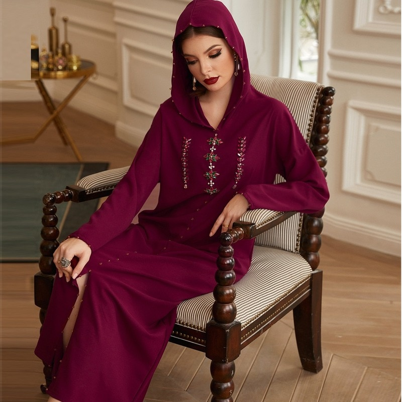Diamond Abaya Dubai Robe Muslim Dress Caftan Marocain Kaftan Islam Eid Mubarak Ramadan Dress Abaya Dubai Robe Abayas for Women
