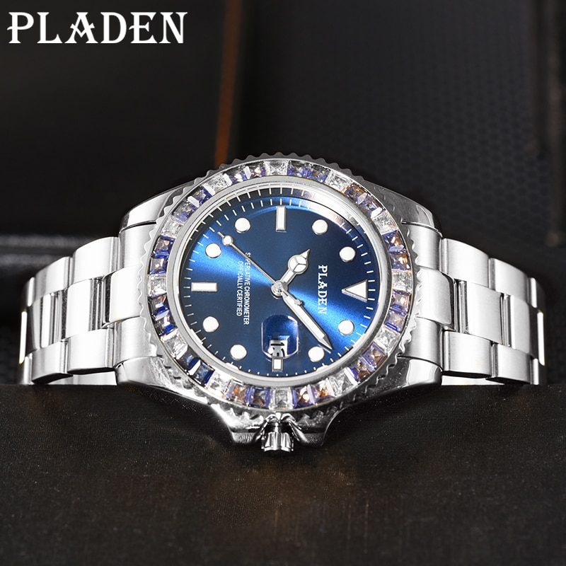 PLADEN 2021 New Fashion Mens Watches With Stainless Steel Top Brand Luxury Quartz Timepiece Sports Luminous Business Male Clocks