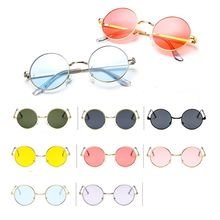 Round Metal Frame Trend Car Driving Sunglasses Retro Glasses Men Women Vintage Sun Glasses Outdoor S