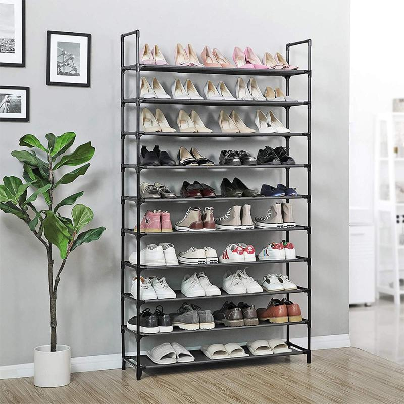 10 camada montada sapato rack de armazenamento à prova de poeira sapato armário de sapato em casa suporte de sapato dormitório simples prateleira de armazenamento organizador titular