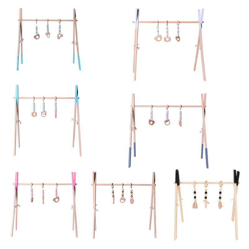 Estructura de gimnasia plegable para bebé, de madera, para jugar al gimnasio, para actividades de bebés, decoración para el dormitorio del bebé
