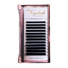 Viplash High Quality 12 Rows Individual Eyelash Extensions Mink Eyelashes Private Labels C D DD L Handmade Eyelashes Extension