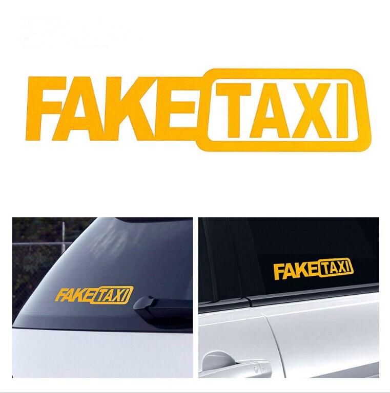 Поддельные такси автомобильные наклейки отражающие наклейки смешные наклейки для Volkswagen Polo Passat B5 B6 B7 B8 CC GOLF 4 5 6 Vento Arteon