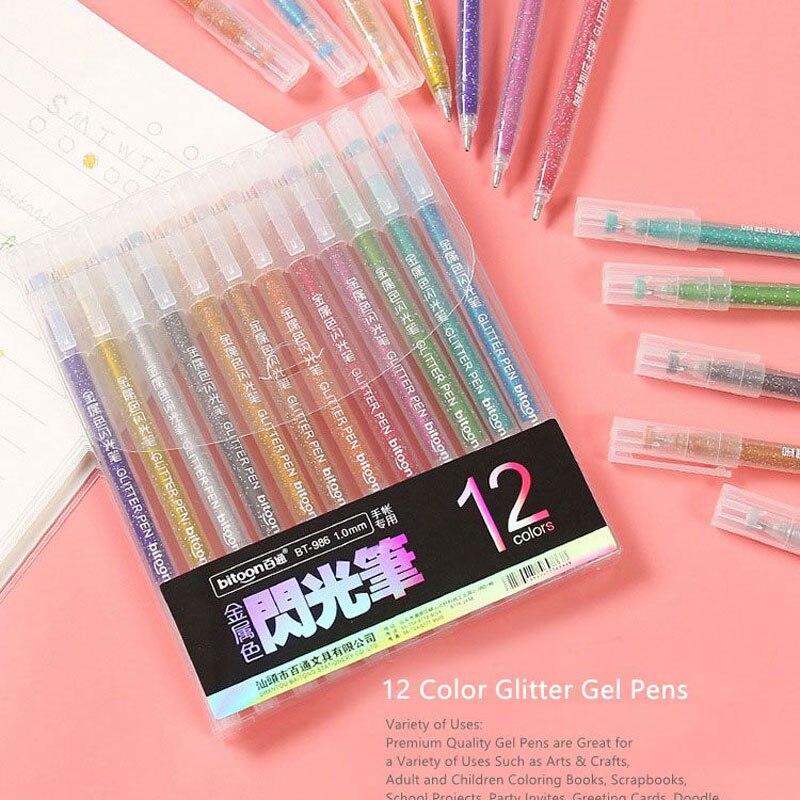 Набор гелевых ручек-хайлайтеров, 12 цветов artspace набор гелевых ручек совята 12 цветов 1 0 мм