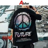 abfer summer man t shirts anti war graphic t shirts oversized men hip hop tshirt streewear graffiti manga printed harajuku tops