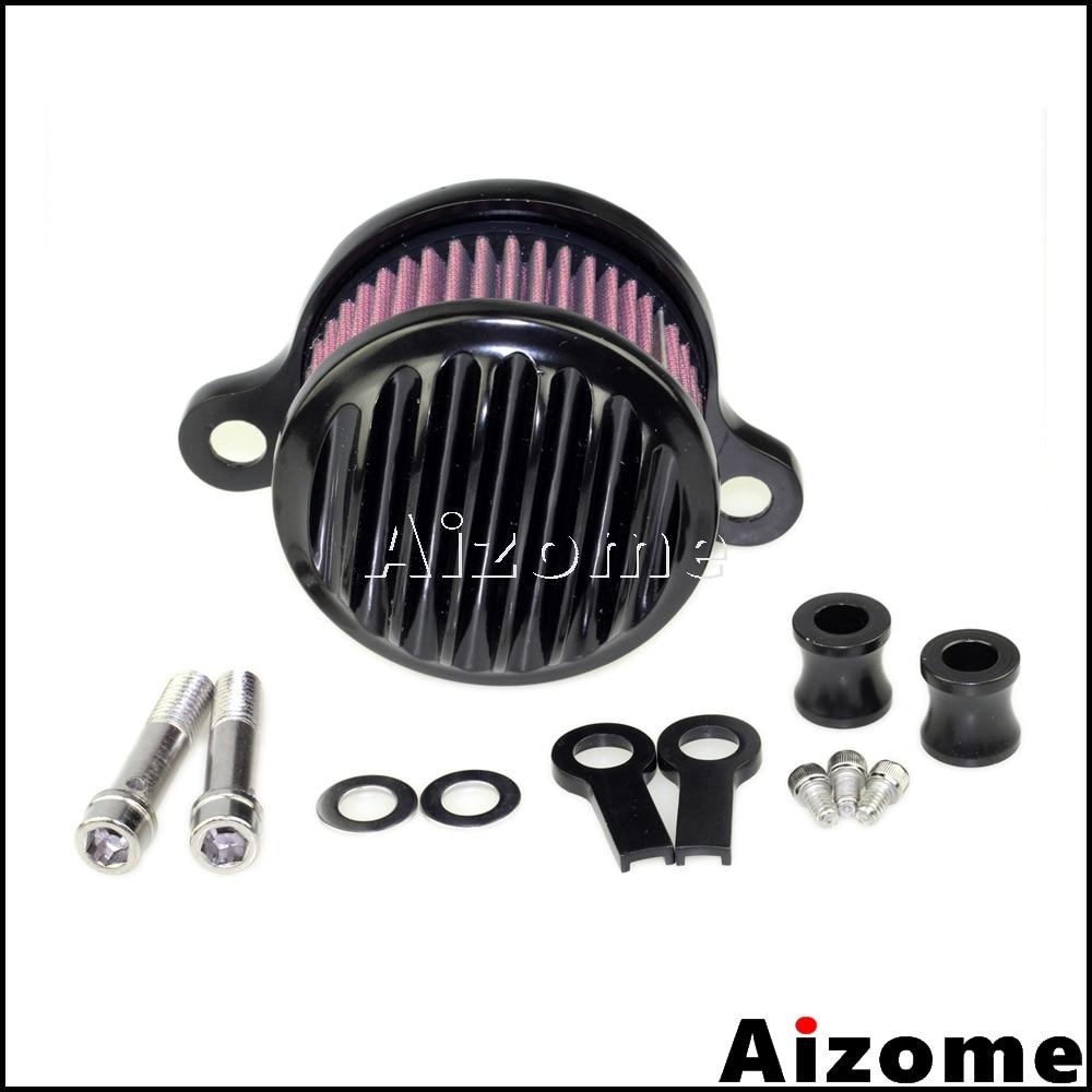 Rejilla negra de admisión de filtro de aire para motocicleta Harley Sportster XL1200 XL883 2004-2015 Iron 883 superbajo personalizado