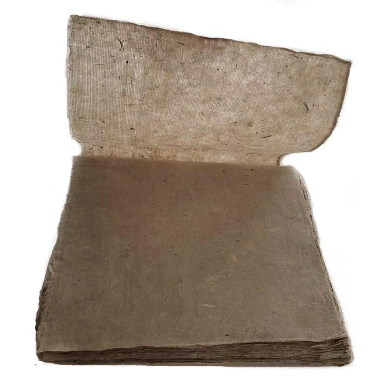 Бумага льняная ручной работы, 20 листов, китайская Национальная выставка, рисовая бумага, каллиграфия, половинно созревшая бумага, бумага с к...