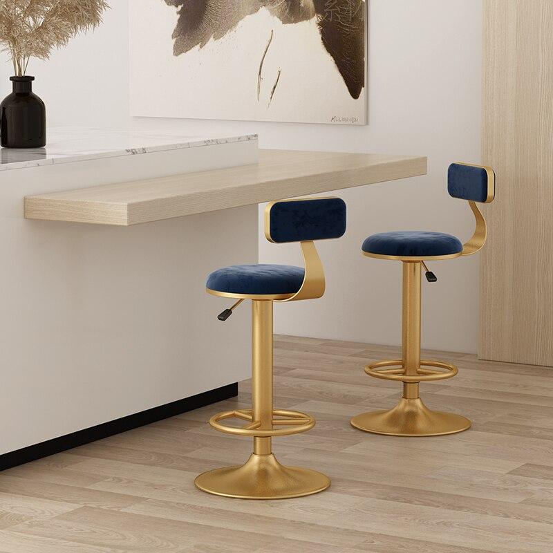 Вращающиеся барные стулья, многофункциональная мебель, гидравлический подъемный барный стул в скандинавском стиле, современный модный дом...