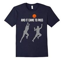E ele veio para passar lds mórmon igreja bola de basquete camisa de esportes masculinos t camisa