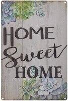 Plaque decorative Vintage en fer blanc pour maison  decoration murale de maison  de jardin  pour salon  Bedro
