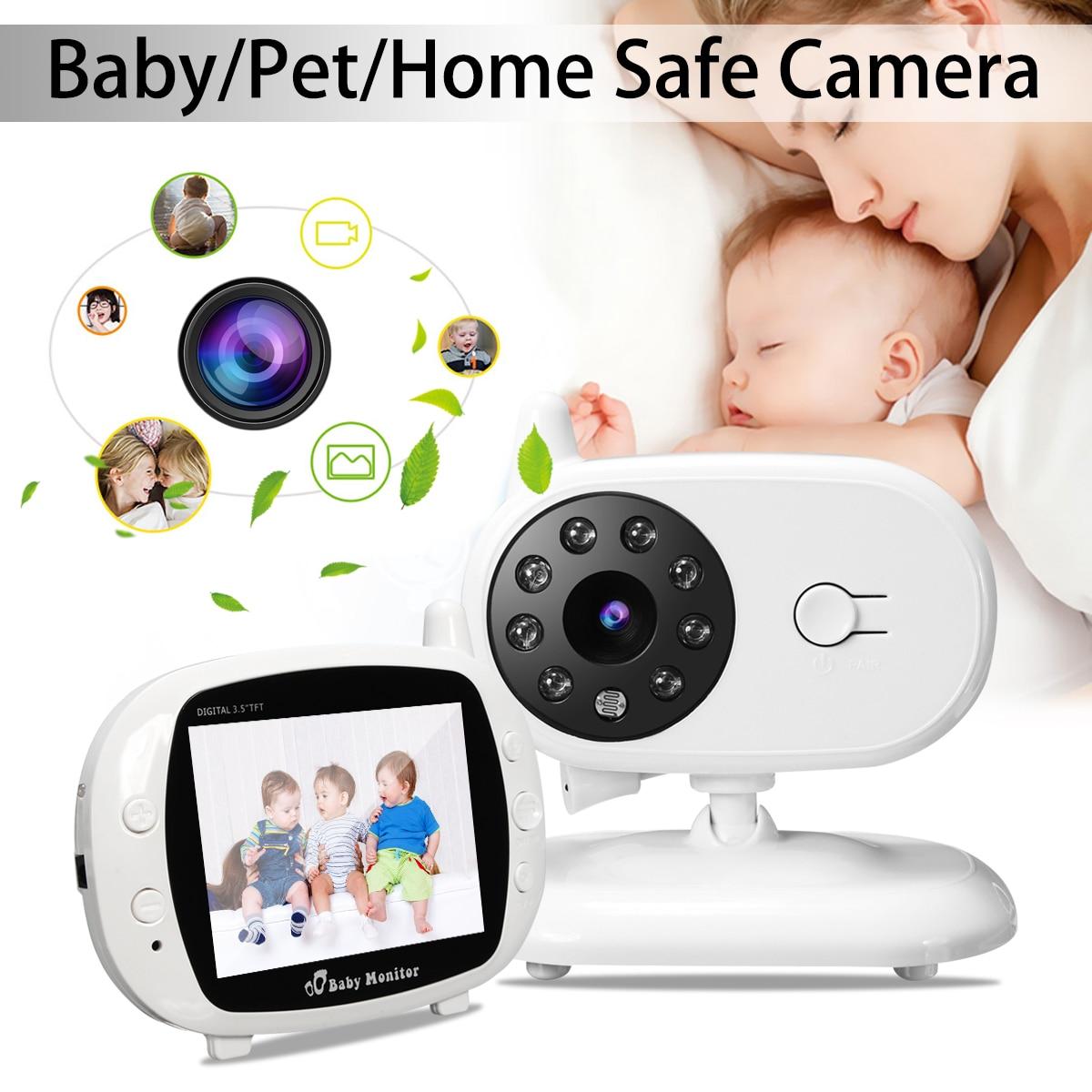 2,4G беспроводной цифровой ЖК-монитор для детей, 3,5 дюйма, камера, двусторонняя аудиосвязь, видео, ночное видение, Wi-Fi, няня, температура безопа...