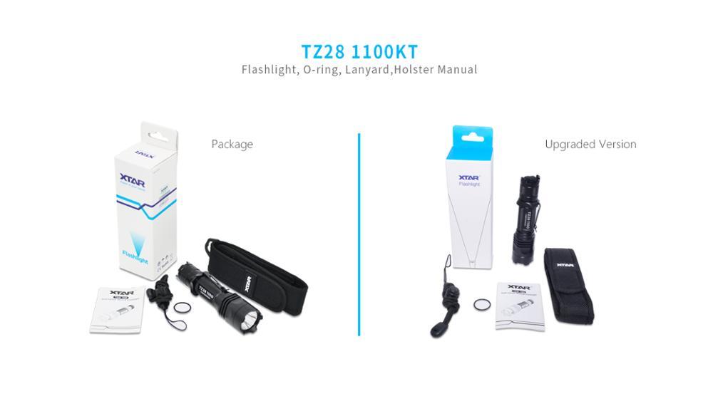 Original XTAR TZ28 1100 Flashlight Dual Tail Switch 1100LM CREE XP-L-HI/V2 LED 4 Mode Tactical Flashlight camping Hunting Diving enlarge