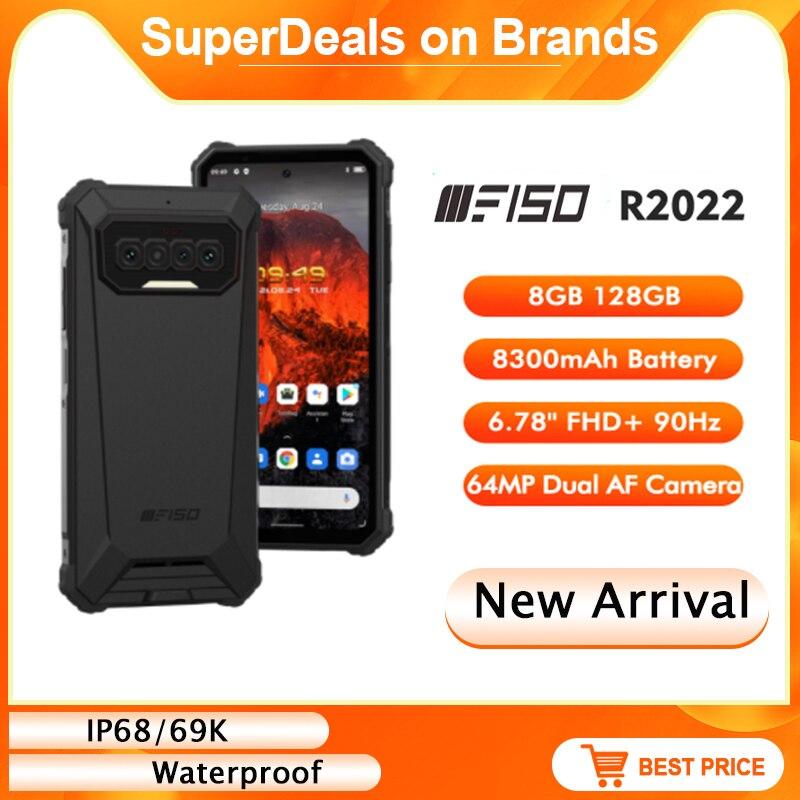 IiiF150 R2022 64MP + 20MP AF للرؤية الليلية 6.78 ''FHD 90Hz الهاتف الذكي IP68/69K مقاوم للماء G95 8GB + 128GB 8300mAh NFC جوّال المهامّ الوعرة