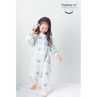 yazan childrens sleeping bag spring and summer 3 layers of all cotton gauze breathable to keep warm and prevent cold sleepsack