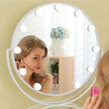 Hollywood Style Makeup Mirror with Lights LED Bulbs Cosmetic Mirror Tabletop Touch Screen Lighted Vanity Mirror with 10x Mirror