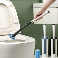 disposable cleaning toilet brush long handle replaceable brush head closestool wc cleaner tools bathroom accessories household