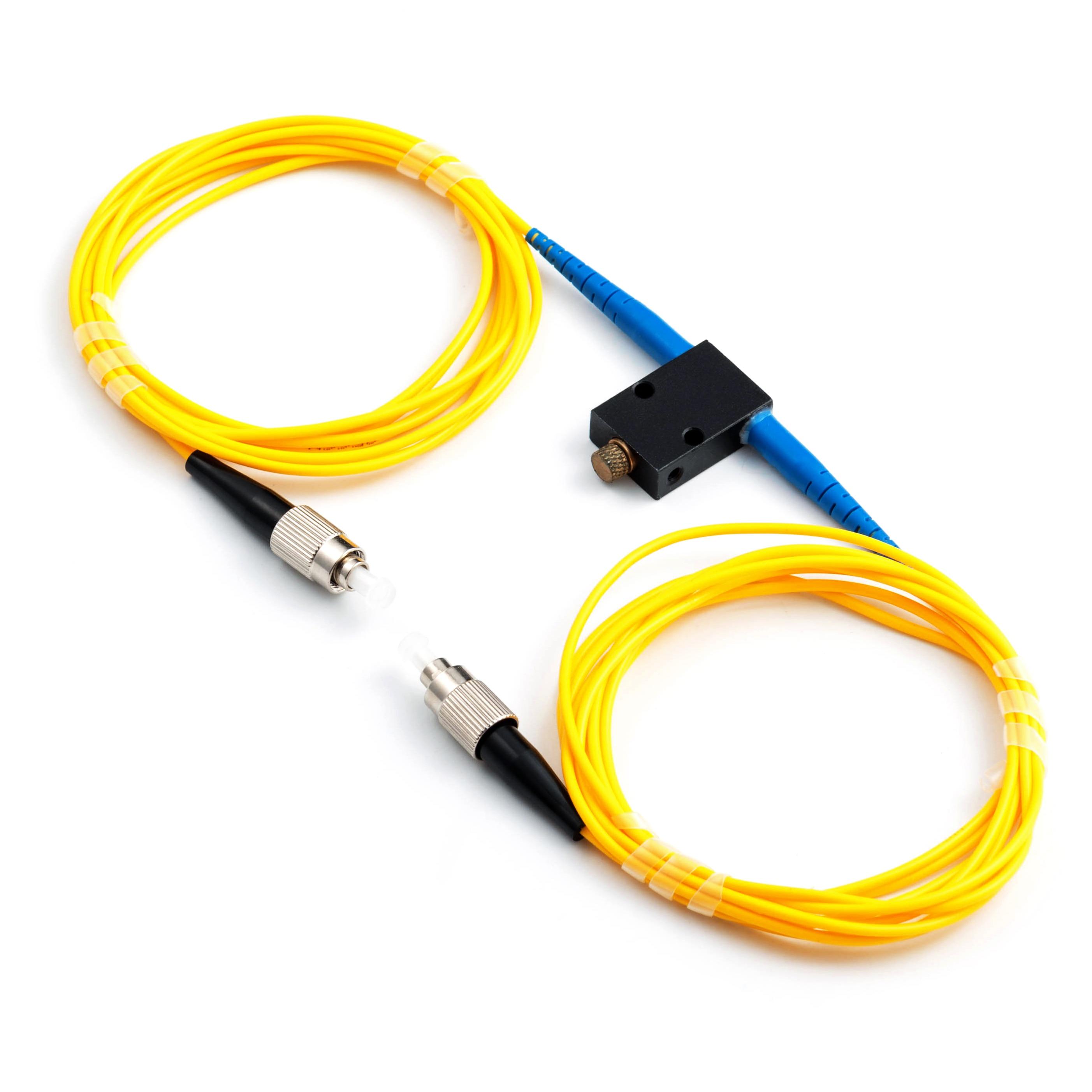 Atenuador ajustable FC /UPCFiber 0-60dB en línea, mecánica, variable en línea, atenuador óptico tipo en línea