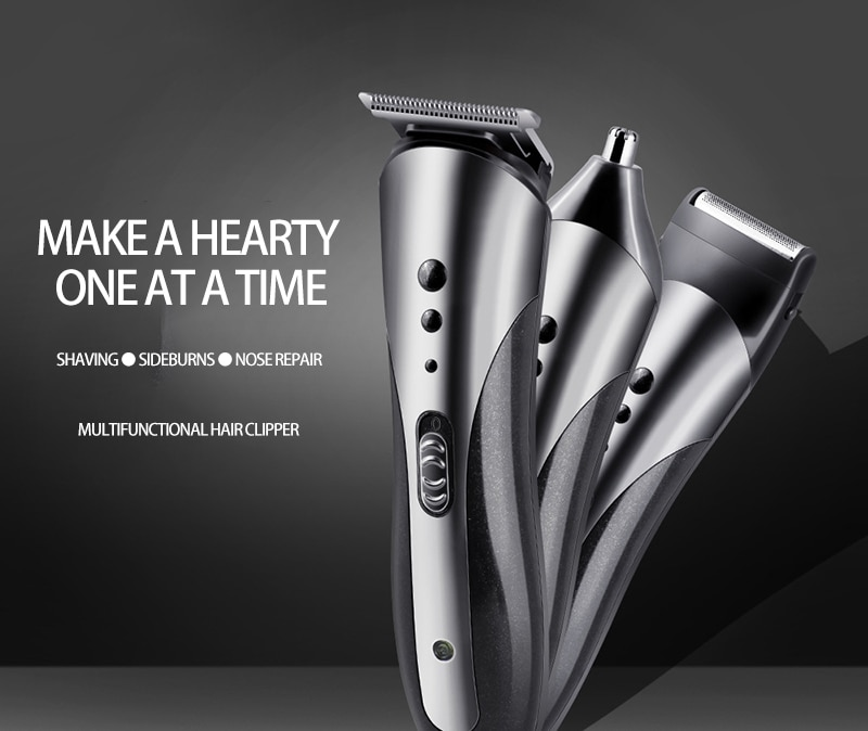 Multifunction Rechargeable Hair Clipper For Men Waterproof Wireless Electric Shaver Beard Nose Ear Shaver Hair Trimmer Tool enlarge