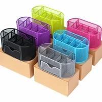metal penalty organizer mesh desk organizer table 9 grids design storage box drawer pencil pen holder for neatening tools