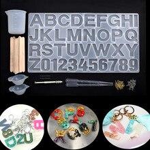 Alphanumeric silicone mold Gumpaste mold, Sugarcraft, uv resin epoxy mold jewelry tool DIY craft accessories