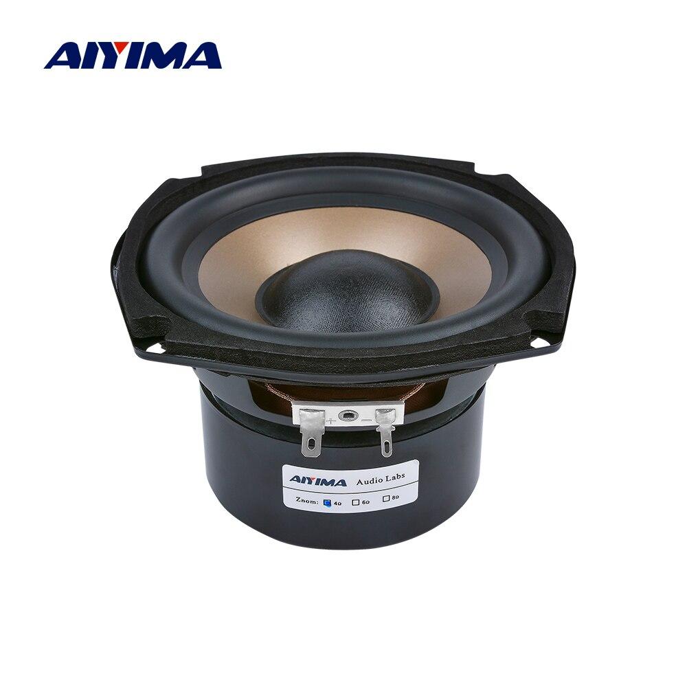AIYIMA 1Pcs 5,25 pulgadas altavoz Subwoofer 4 8 Ohm 100W Audio Woofer altavoz HIFI Bass altavoz para 5,1 cine en casa
