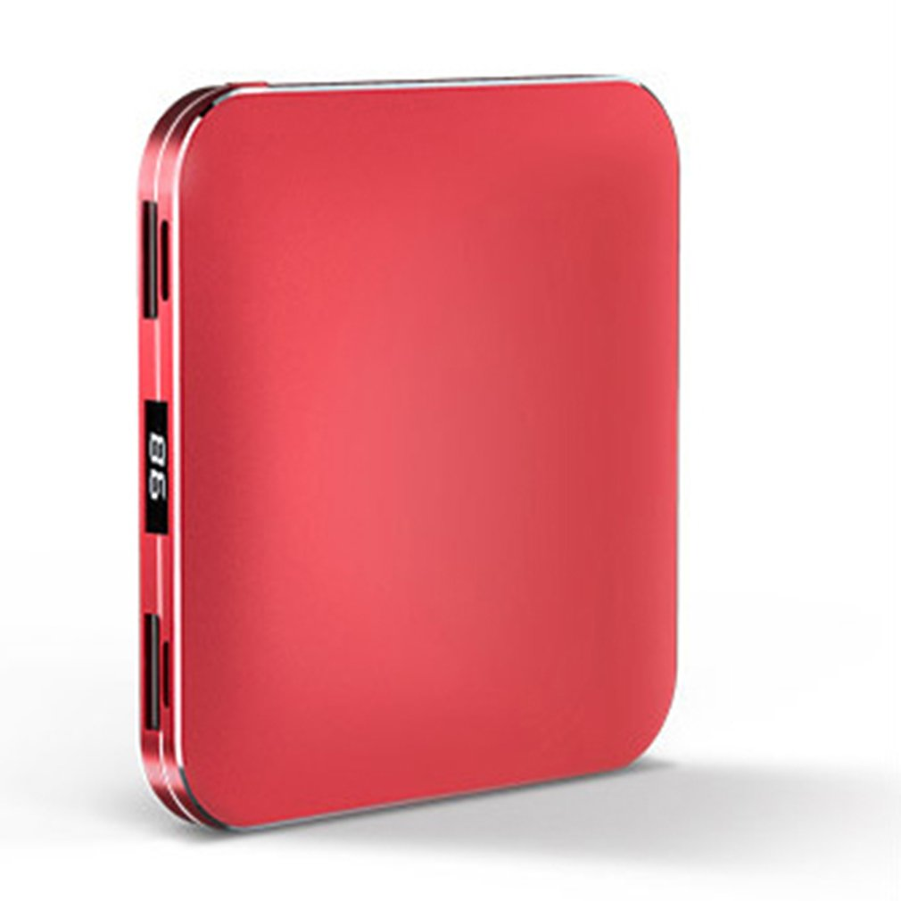 Cargador USB portátil de 20000mAh, alfombrilla de carga inalámbrica, batería externa, tamaño Super Mini